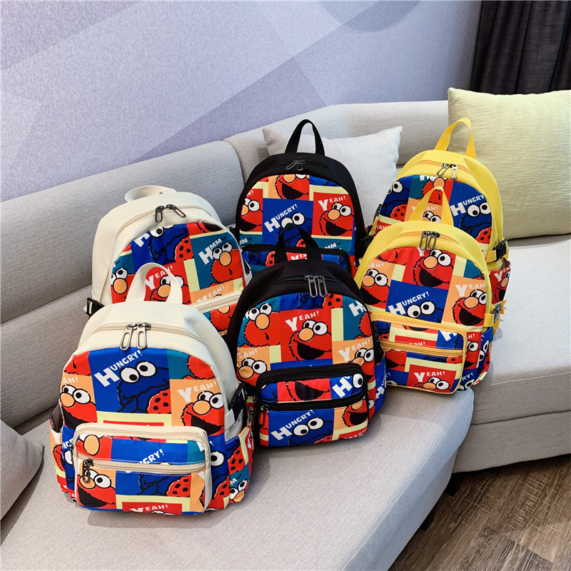 Korean-style Children 2019 New Style Summer Trend Versatile Parent And Child Backpack Cool Cartoon Printed Schoolbag Fashion