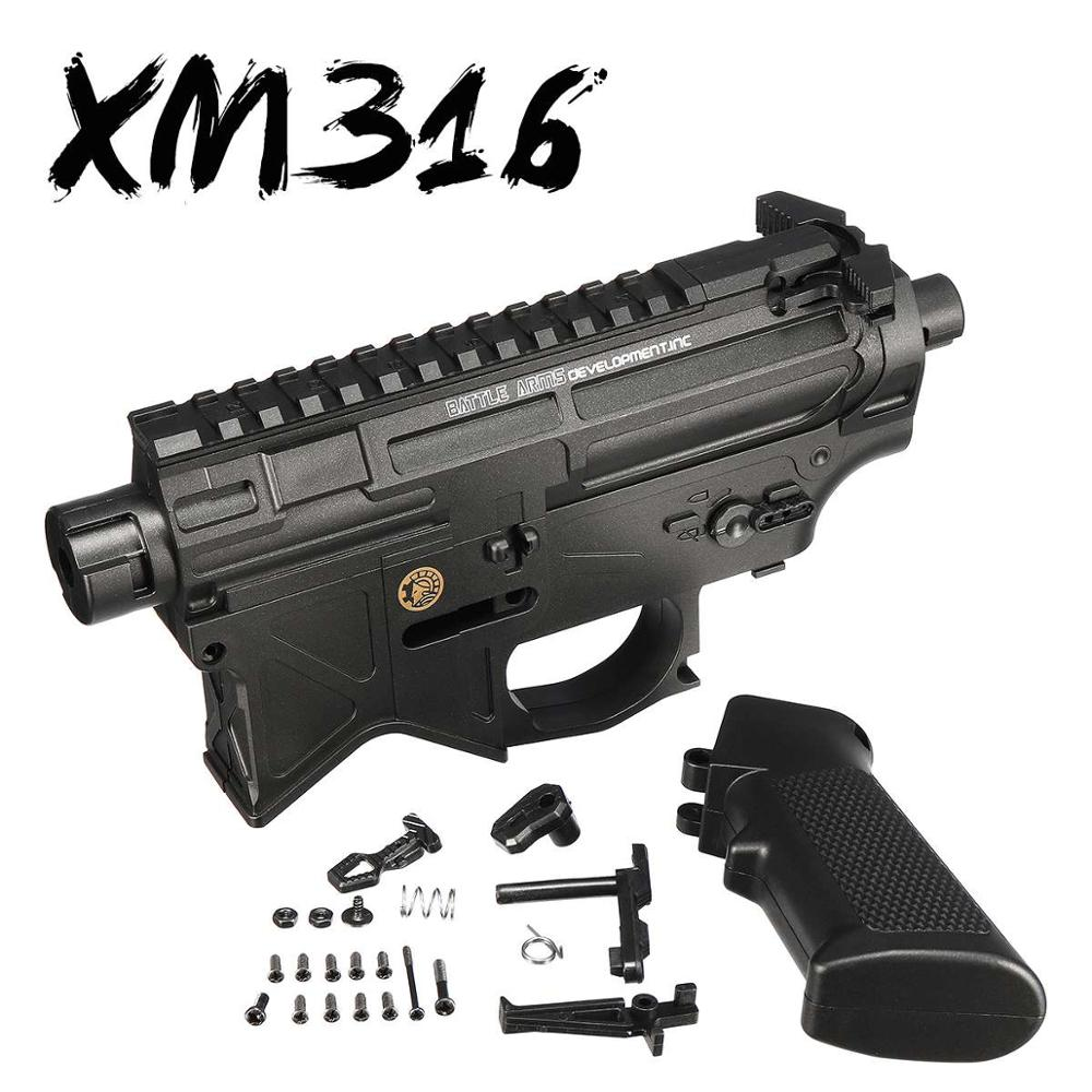 Split XM316 Receiver Upgrade Shell Kit For M4A1 GEN8 Gel Ball Blasters Games Toy Guns Replacement Accessories