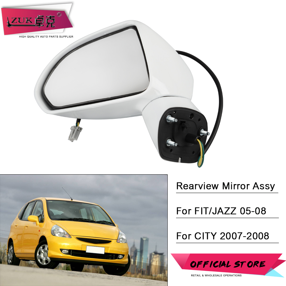 ZUK Car Exterior Rearview Side Mirror Assy For HONDA FIT JAZZ 2003 2008 FIT SALOON CITY 2007 2008 GD 3 PINS Without LED Light Mirror & Covers    - AliExpress