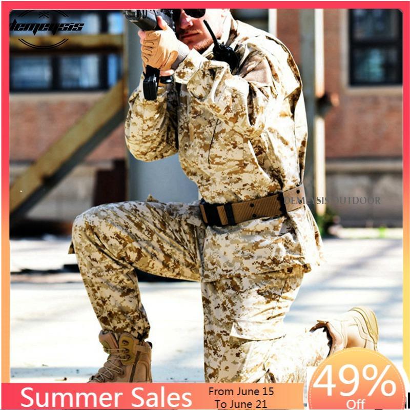 Цифровой Камуфляжный костюм для пустыни, комплекты одежды для пейнтбола, армейская Военная Тактическая форма, армейская униформа для страйкбола, куртка + штаны