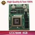Caliente GTX 780M GTX780M N14E-GTX-A2 4G DDR5 Video VGA tarjeta gráfica FJHX2 2K0KW para DELL Alienware M17X R4 R5 M18X R2 R3 prueba 100%