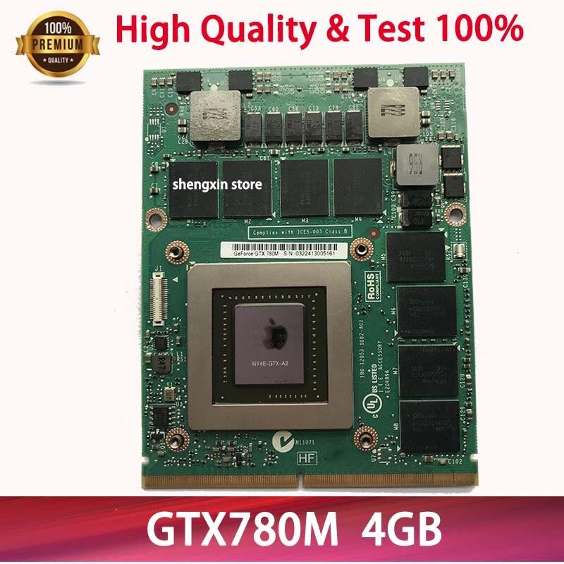 hot GTX 780M GTX780M N14E-GTX-A2 4G DDR5 Video VGA graphic card FJHX2 2K0KW For DELL Alienware M17X R4 R5 M18X R2 R3 Test 100%