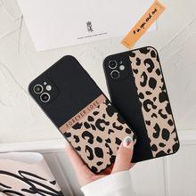Moda leopardo padrão silicone caso de telefone para o iphone 12 11 pro max 6 s 7 8 plus x xr xs max se 2020 capa bonito capa macia funda