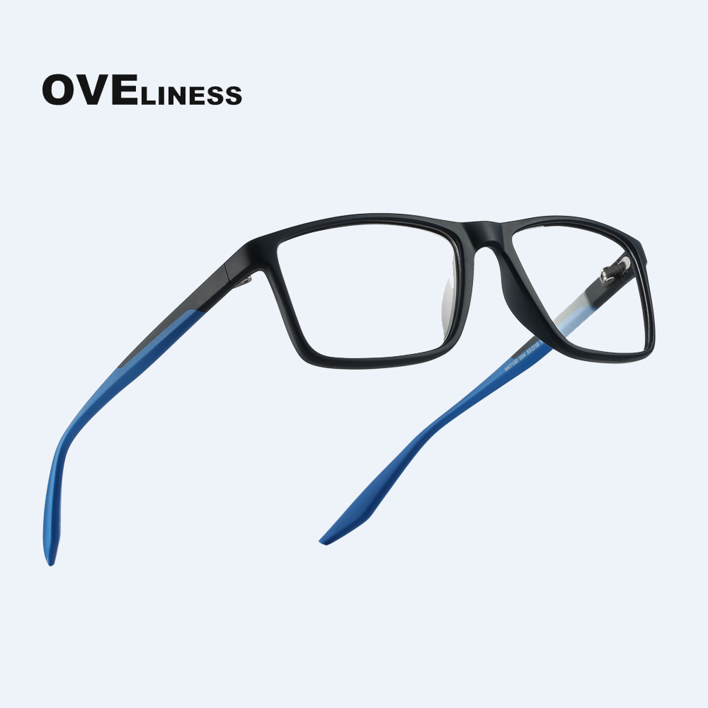 TR90 Men Optical Glasses Framefor Women Computer Glasses Prescription Transparent Myopia Eyeglasses Clear Fake Glasses Eyewear