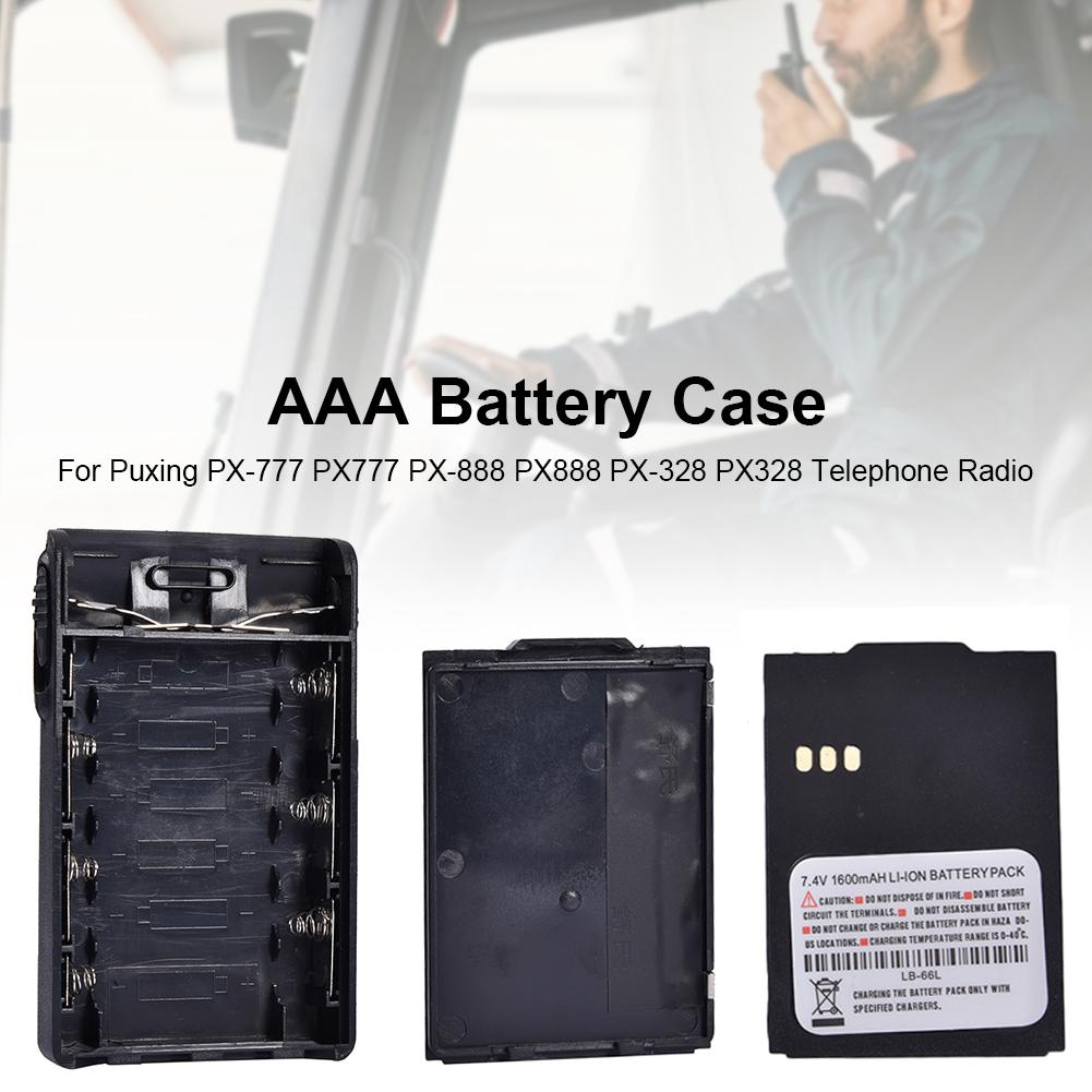 AAA Battery Case For Puxing PX-777 PX777 PX-888 PX888 PX-328 PX328 Telephone Radio Battery Case For Puxing PX Series Radios New