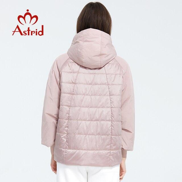 Astrid 2020 printemps manteau femmes Outwear tendance veste courte Parkas décontracté mode femme de haute qualité chaud mince coton ZM-8601 4