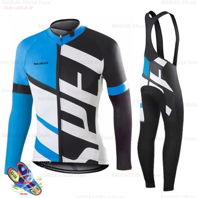 Primavera 2020 pro equipe raudax camisa de ciclismo outono mtb ciclismo roupas verão manga longa triathlon mountain bike bib pant conjunto 5