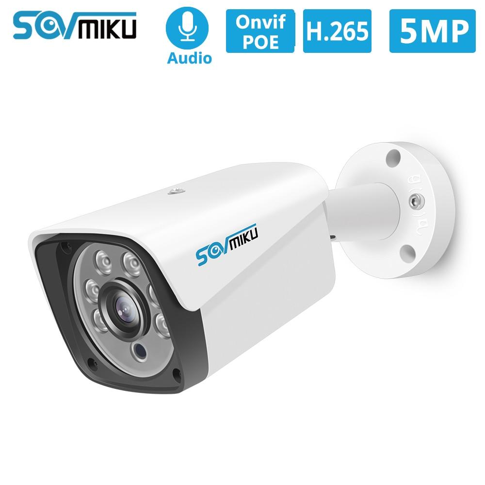 H.265 Audio POE IP Camera 5MP 3MP Metal Case IP66 Waterproof Outdoor CCTV Camera Night Vision Security Video Surveillance ONVIF Surveillance Cameras     -