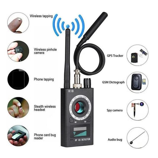 Multi-Function Anti Detector Bug Detector Signal Camera Detector BUG Anti Spy Detector RF Tracker GPS Locator Wireless Device 1