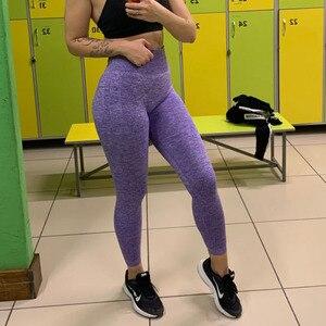 Image 5 - 원활한 레깅스 여성용 피트니스 레깅스 여성용 Jeggings Sportswear Femme 하이 웨이스트 운동 레깅스 여성용