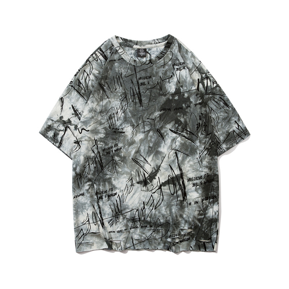 Street Lettered Graffiti Printed T-Shirt