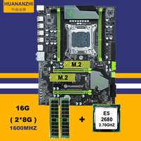 Discount mobo HUANAN ZHI X79 motherboard with M.2 slot CPU Intel Xeon E5 2680 2.7GHz RAM 16G(2*8G) 1600 REG ECC 2 years warranty
