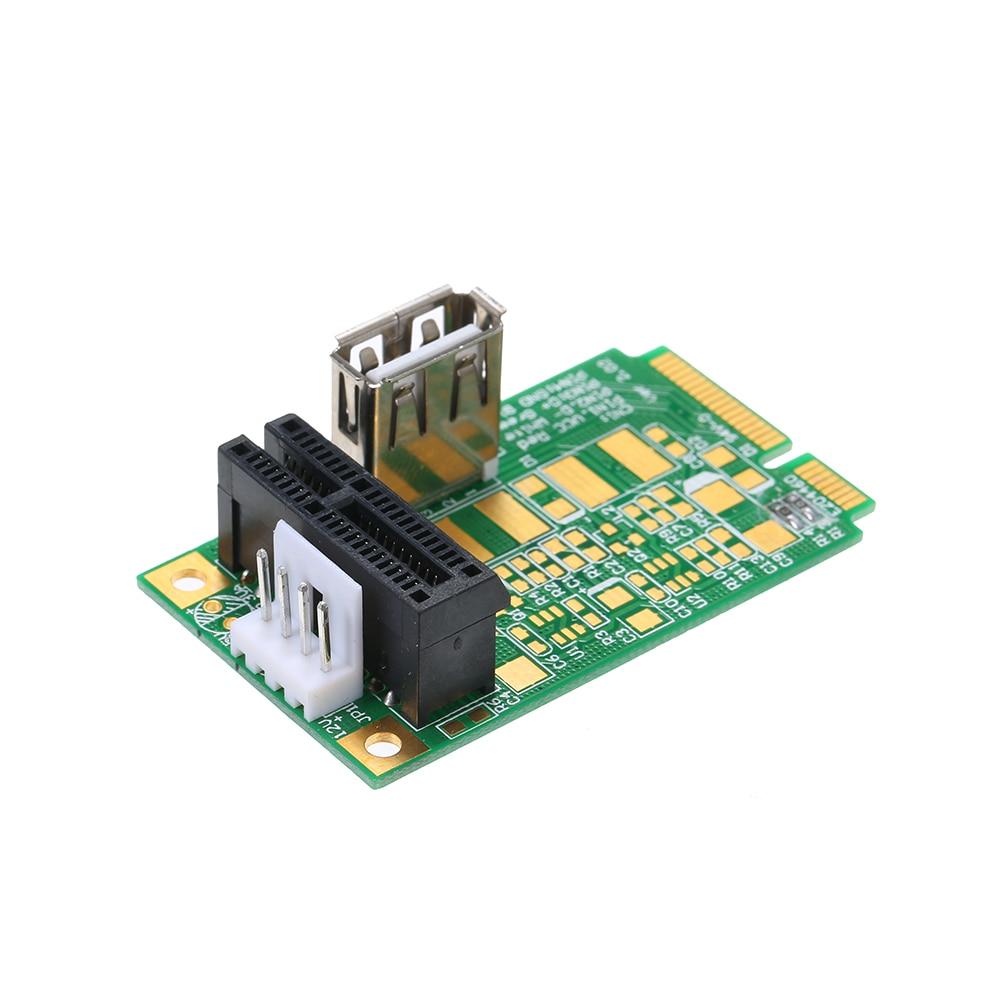 Mini PCIe to 2 PCI Express 16x Slot Riser Card PCI-e 1x 4x 8x 16x Card Supported