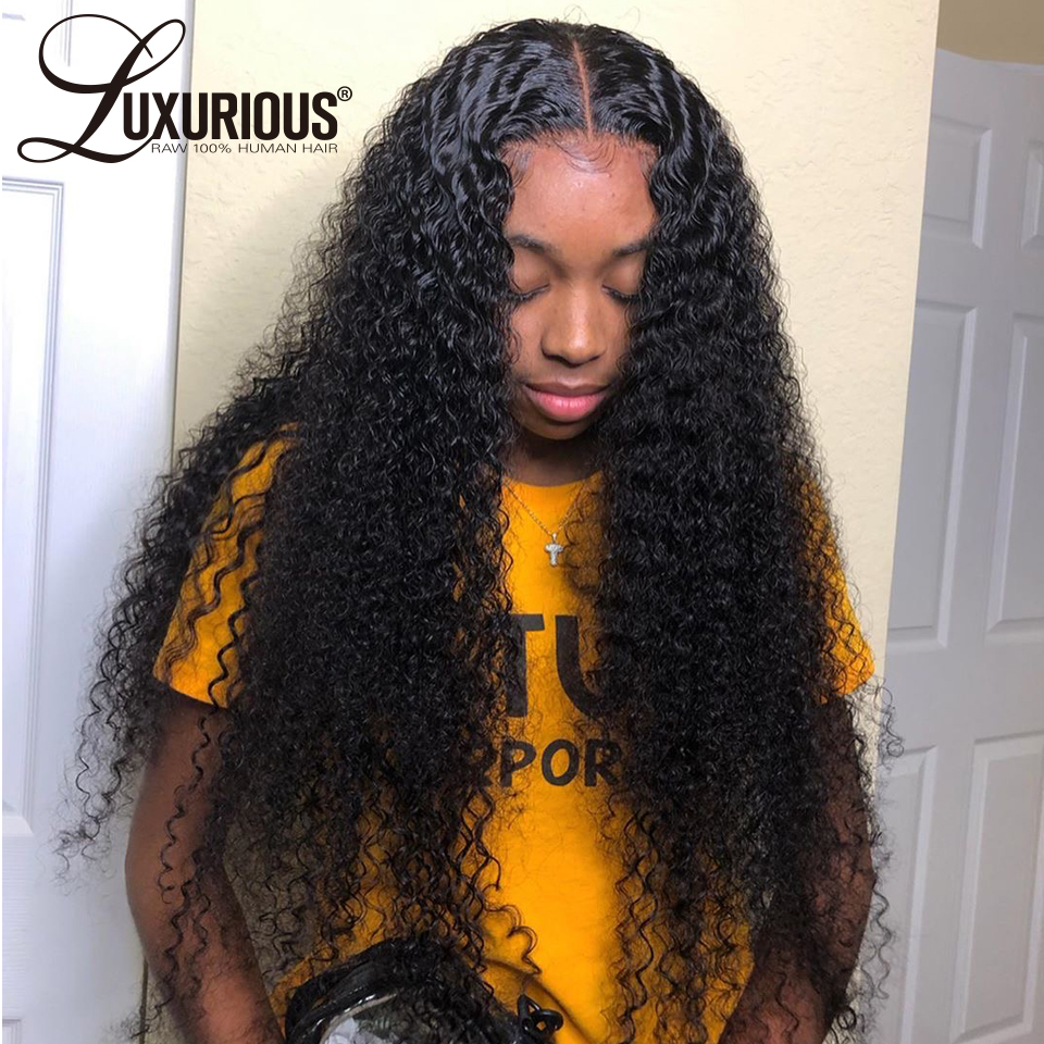 150% Curly Human Hair Wig