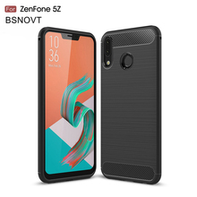 For Asus ZenFone 5z ZS620KL Case Shockproof Soft Silicone Brushed Anti-knock Phone Cover BSNOVT