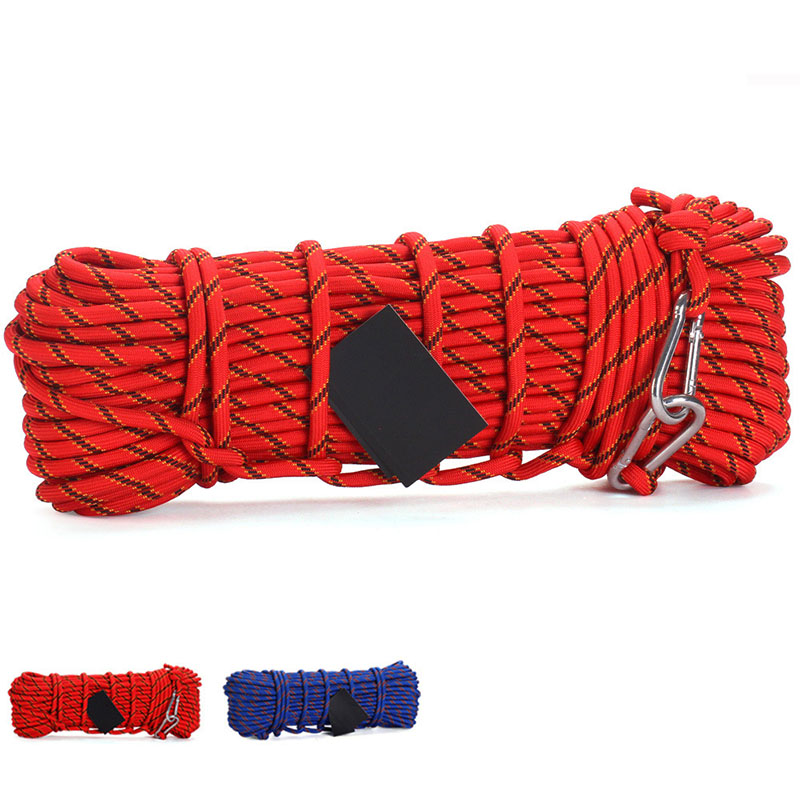 50m Outdoor Rock Climbing Rope 10mm Diameter High Strength Camping Hiking Survival Rope 300kg Load-bearing Rescue Safety Rope