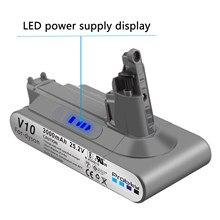 Сменная батарея V10, литиевая перезаряжаемая батарея 3,0 Ач для пылесоса Dyson, 1 шт.
