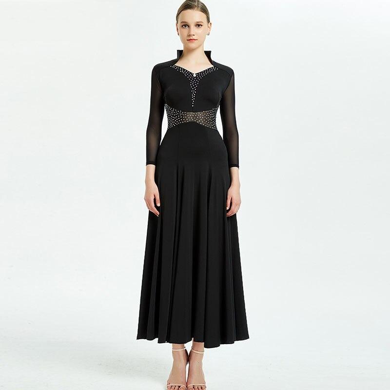 Ballroom Dance Dress For Women Waltz Foxtrot Tango Standard Dance Practice Wear Ladies Customized Performance Clothing DC3577