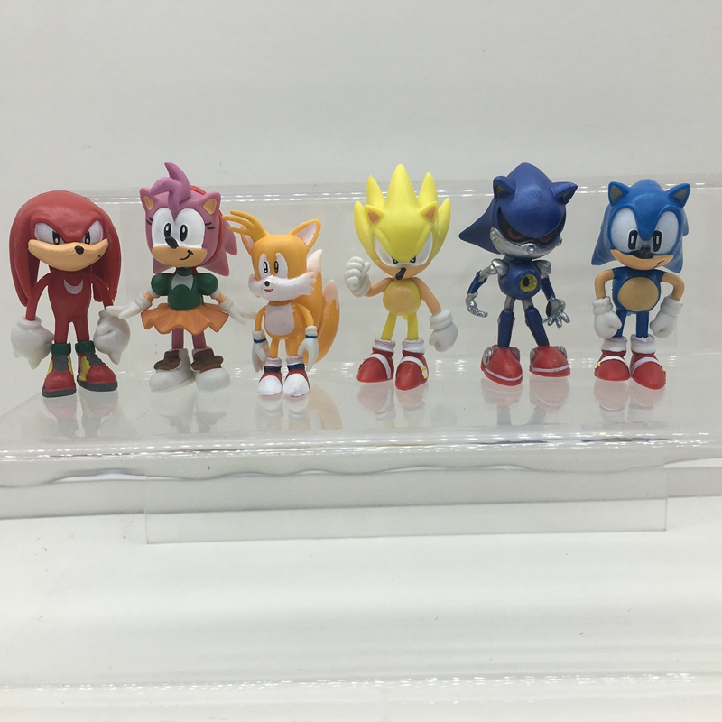 Image 5 - 6pcs/set The Sonic Hedgehog Action Model  Figures Toy-in Action & Toy Figures from Toys & Hobbies