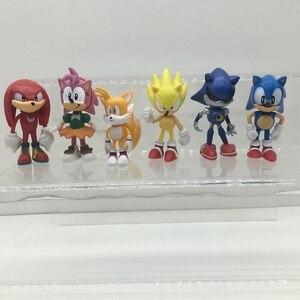 Image 5 - 6pcs/set The Sonic Hedgehog Action Model  Figures Toy