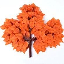 ¿Rama de hojas de abedul Artificial para decoración de hogar Fondo de planta de pared de boda... oficina Bar 12 Uds? 55cm