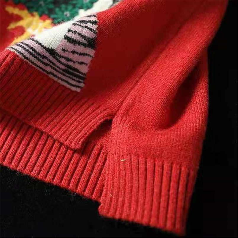 캐주얼 여성 오 넥 민소매 니트 스웨터 루스 풀오버 오버 사이즈 가을 겨울 아우터 블랙/레드 레이디스 니트 점퍼