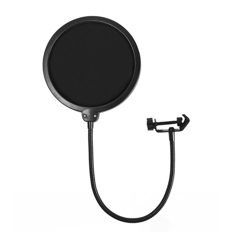 Professional Anti spray Cover Large Double layer Microphone Recording Cover Net Windscreens&Pop Filter for Conference Meeting|Microphone Accessories| |  - title=