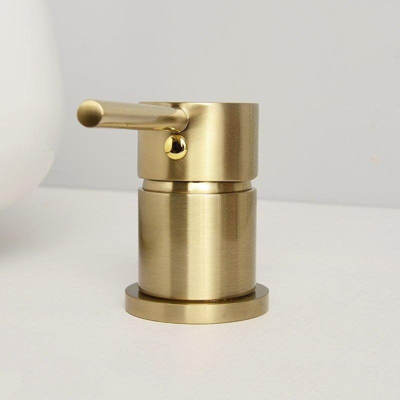 Verbreitet Zwei Loch Küche Wasserhahn Gebürstet Gold 7 Rohr Lange Wasserhahn Deck Montiert Küche Waschbecken 360 Rotation Kalten Heißer mixer