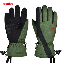 Men Women Ski Gloves Seperated Finger Waterproof Thermal Fleece Warm Snow Skiing Snowboard Gloves Winter Outdoor Sports Mittens
