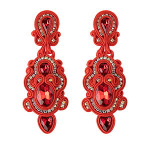 Image 5 - KPacTa Fashion Handmade Big Earrings Inlaid Ethnic Style Jewelry Ladies Crystal Decorative Accessories Pendant Earrings