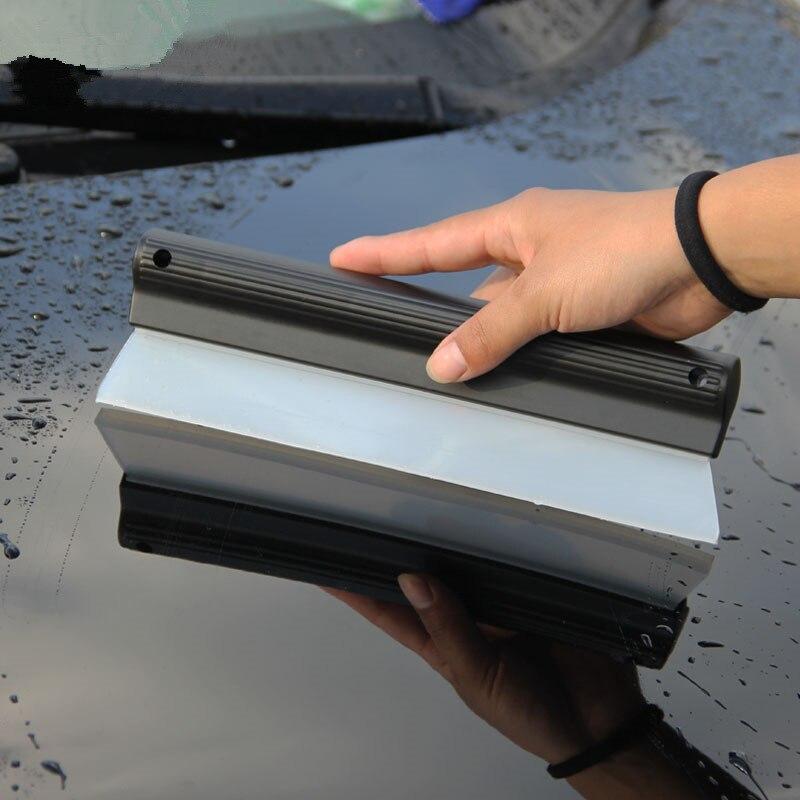 Weiche Silikon Schaber Autos Windschutzscheibe Fenster Glas Wasser Trocknung Klinge Wischer Reinigung Schaber Auto Waschen Werkzeug Zubehör
