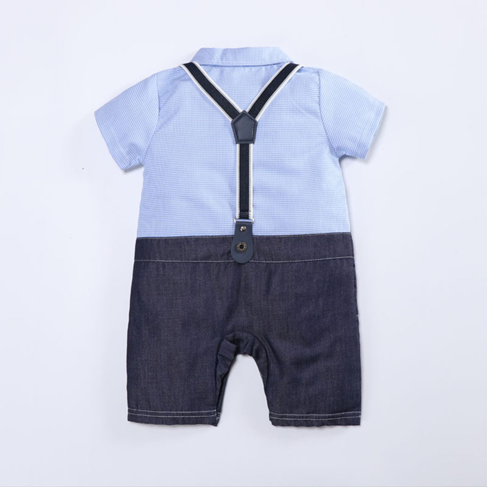 Baby Boys Clothes Summer Short Sleeve Baby Romper Gentleman Tie Baby Jumpsuit Clothes Kids Costume For Newborn Overalls Clothes