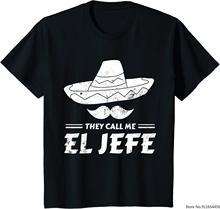 Camiseta divertida de Chef mejicano para hombre, camiseta con frase I Call Me El Jefe