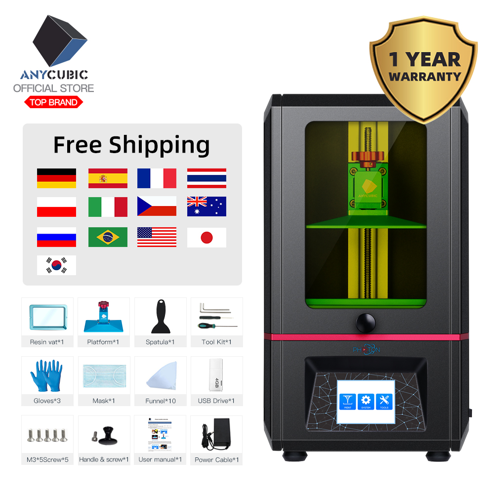 ANYCUBIC 3d-Printer SLA Impresora Uv-Resin Plus-Size LCD Off-Line Drucker title=