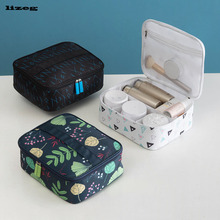 Travel cosmetic bag large capacity portable waterproof wash cosmetic storage bag small portable cosmetic bag недорого