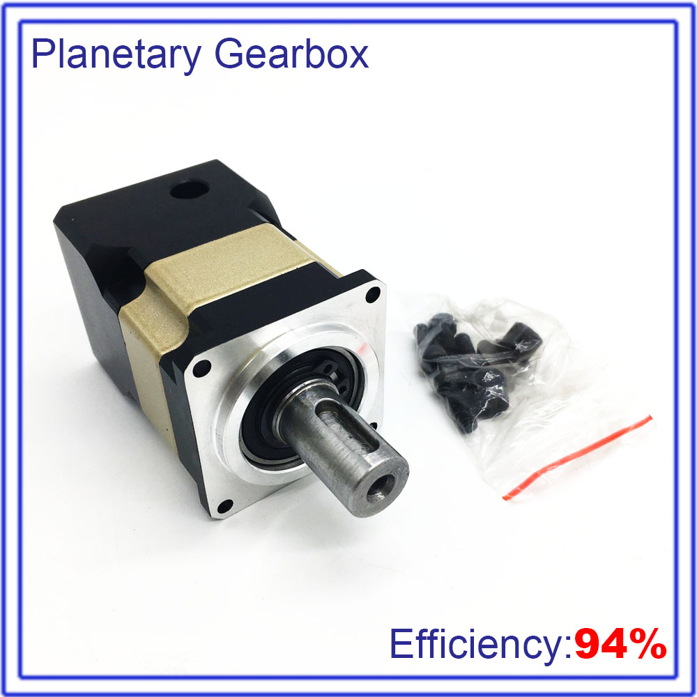 High precision 7:1 Planetary Reducer Speed Ratio 8mm 7Arcmin Backlash Gearbox for CNC Lathe Robot 40mm 50W 100W Servo motor