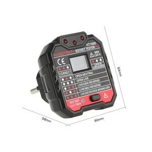 Image 3 - Linea tester rcd tester elettrico socket tester Spina di UE HT106D Presa di tester di Tensione di Prova Presa rivelatore di Polarità di Fase di Controllo