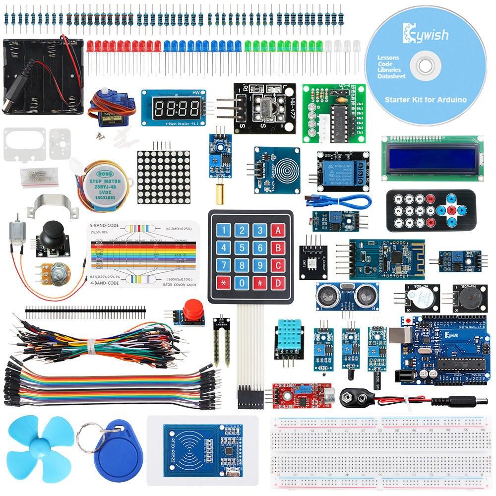 Keywish RFID Starter Diy Kit For Arduino UNO R3 With Bluetooth Module, 34 Lesson , Solder-Free,