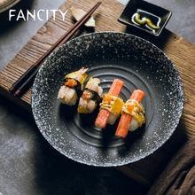 Креативная керамическая тарелка fancity домашняя простая для