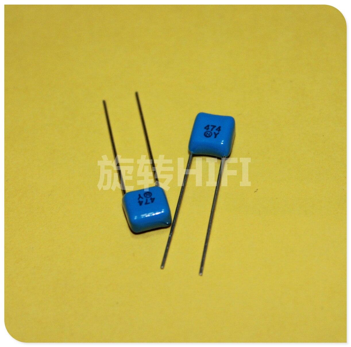 20PCS Japan NISSEI CBB Capacitor 0.47UF 63V 470NF P5mm NIS 0.47uF/63V 474/63V 474 Metallized Polyester Film Capacitor
