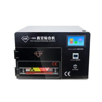 цена на TBK 508 5 in 1 multi-function Vacuum OCA laminating machine built-in defoaming Vacuum Pump Air Compressor lcd repair machine
