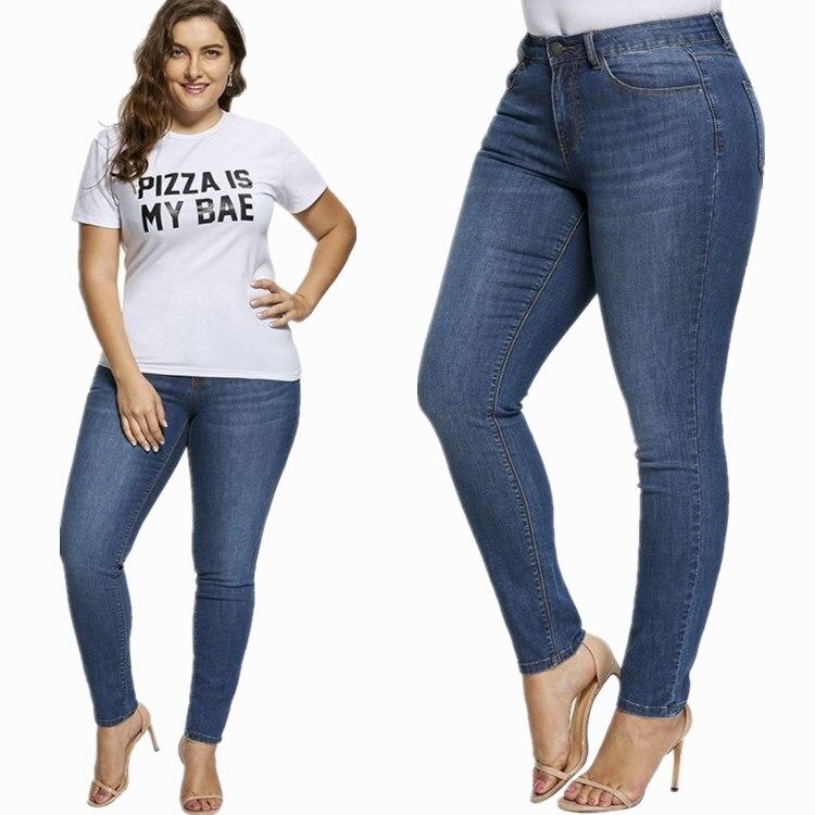 Paris Fashion  Ladies Elastic Jeans Plus Big Size, 4XL To 7XL High Waist , Denim Mom,jean Boyfriend For Women,zaraing Ankle