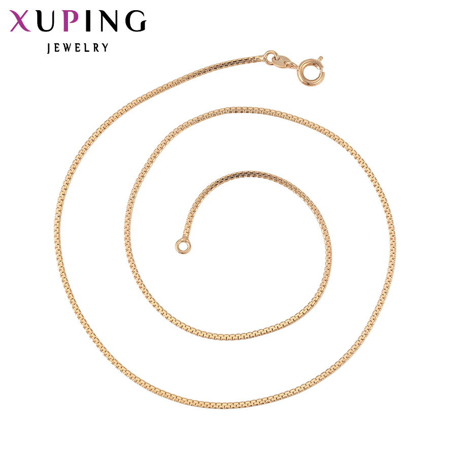Xuping модное ожерелье новый дизайн длинное ожерелье позолоченное ожерелье Женская цепочка Ювелирные изделия Лидер продаж подарок 42609