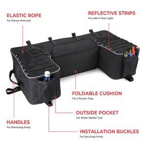 Image 2 - Czarny tylny stojak torba pakiet wsparcie Storage Pack powrót ATV dla Yamaha Big Bear 400 dla Polaris 300 dla Can Am Outlander 400