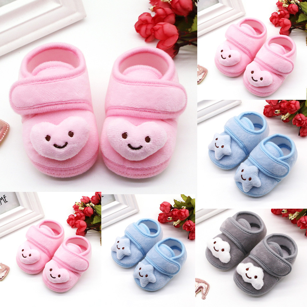 Winter Boots Unisex Newborn Baby Shoes Girls Winter Anti-slip First Walkers Soft Soled Toddler Infant Kids Girl Bandage Booties