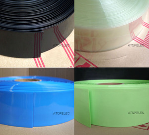 2M PVC Heat Shrink Tubing Wrap Wide 50mm/55mm/60mm/66mm/70mm/75mm/80mm/85mm/90mm/103mm Black/Red/Yellow/Green/Blue/White/Clear(China)