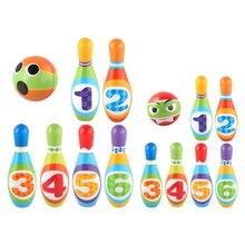 Набор из хлопковых булавок и шариков для боулинга, Семейные Игрушки для занятий спортом на открытом воздухе