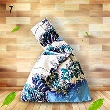 Женская сумка на запястье с напечатанным рисунком, Сумка с узлом, Портативная сумка для девушек, сумка-тоут, K-BEST