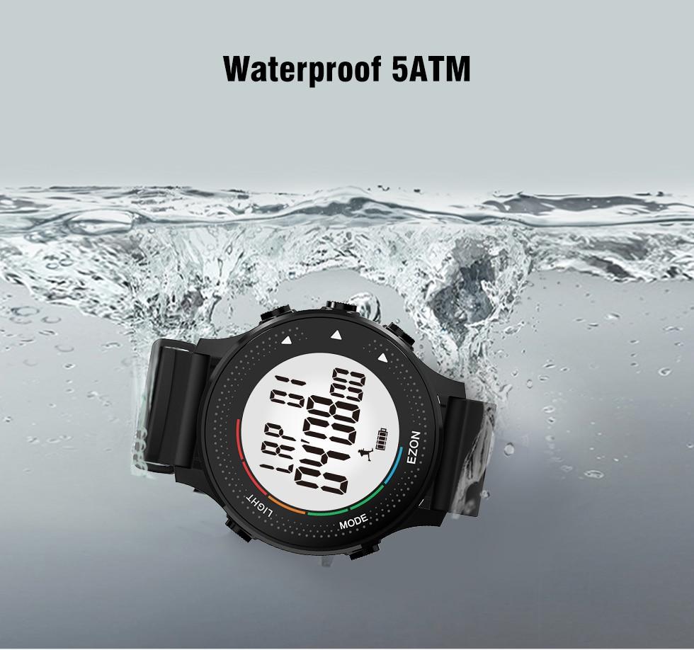 Relojes digitales para hombres con podómetro Cronómetro - Relojes para hombres - foto 4