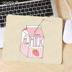 Image 2 - Maiya Fashion Kawaii Japanese Strawberry Milk Rubber Mouse Durable Desktop Mousepad Rubber PC Computer Gaming mousepad